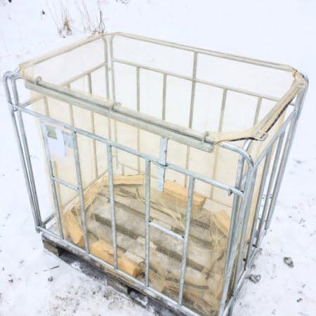 säckstativ 1000 liter med ved